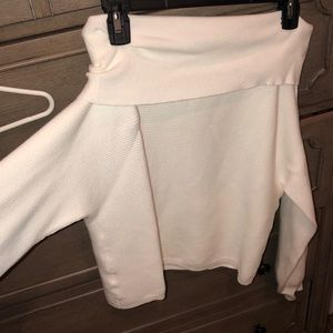 White Off The Shoulder Forever 21 Sweater